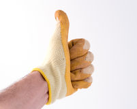 Gloved hand. Thumbs up (part of a set stock images