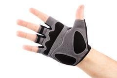 Gloved hand Stock Photo
