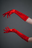Gloved hands Royalty Free Stock Photography