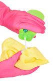 Gloved hands Royalty Free Stock Image