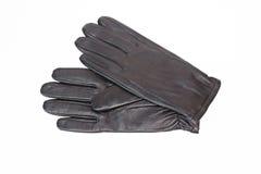 Gloves. Black man's gloves on a white background Royalty Free Stock Photo