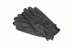 Gloves. Black man's gloves on a white background Royalty Free Stock Images