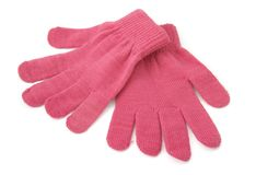 Gloves 2. Close up wool gloves winter clothing, with clipping path Royalty Free Stock Image