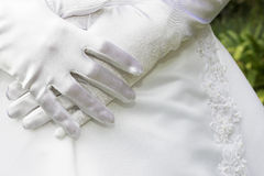 Gloves #3. Satin Gloves stock image