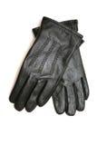 Gloves. Leather man's gloves of black color Stock Images