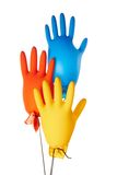 Gloves. Air-filled colorful latex gloves Stock Photos