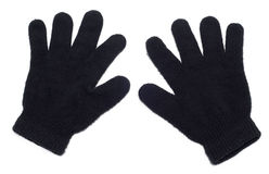 Gloves. Black gloves isolated over white background Royalty Free Stock Photography