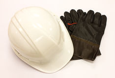 Gloves and cap safety Royalty Free Stock Photography