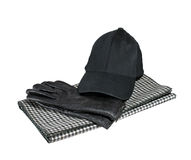 Gloves, cap and scarf Stock Photography