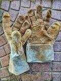 Gloves. Close up of used working gloves Royalty Free Stock Photos