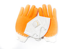 Gloves and a dust mask Royalty Free Stock Photos