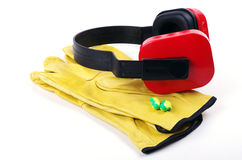 Gloves and ear protectors Royalty Free Stock Image