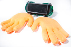 Gloves glasses Royalty Free Stock Photo
