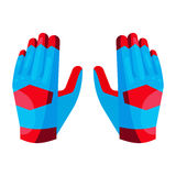Gloves of the goalkeeper icon, cartoon style Royalty Free Stock Photography