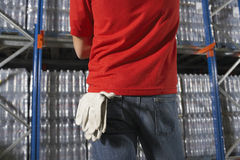 Gloves Hanging From Back Pocket Stock Photo