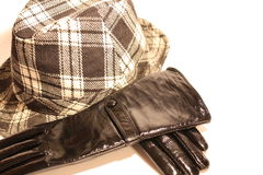 Gloves and hat Royalty Free Stock Photos