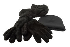 Gloves, hat and scarf Royalty Free Stock Image