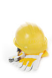 Gloves and helmet Royalty Free Stock Image