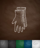 Gloves icon Stock Images