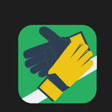 Gloves keeper icon Royalty Free Stock Photography