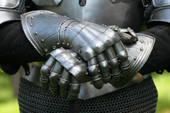 Gloves of a knight Stock Images