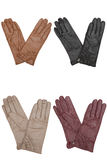 Gloves. Leather isolated on a white background royalty free stock image