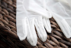Gloves for marriage Stock Photos