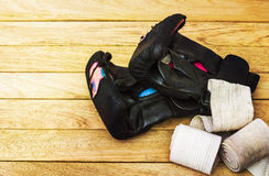 Gloves for martial arts Royalty Free Stock Photo