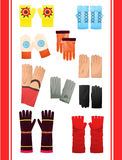 Gloves and mittens Royalty Free Stock Photography