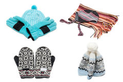Gloves, mittens scarf and nodding Royalty Free Stock Images