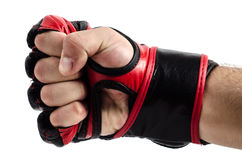 Gloves for MMA leather on a white background Stock Photos
