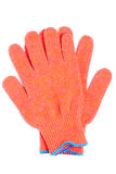 Gloves orange colour Royalty Free Stock Image