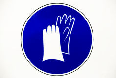 Gloves protection workwear sign Royalty Free Stock Image