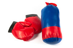 Gloves and punching bag Stock Photo