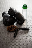 Gloves and rope Royalty Free Stock Photos