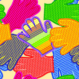 Gloves seamless texture Royalty Free Stock Images