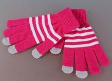 Gloves for sensor screen Royalty Free Stock Photos