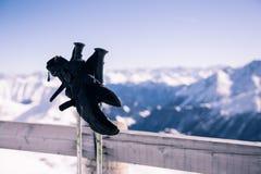 Ski relax scene Royalty Free Stock Image