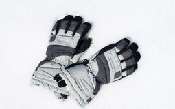 Gloves on the snow Stock Image