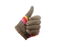 Gloves with thumb up Stock Photo