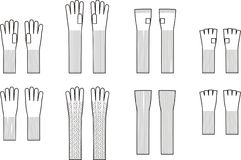 Gloves. Vector illustration of winter knitted gloves Royalty Free Stock Image