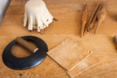 Gloves workshop Royalty Free Stock Image
