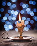Gloving винтажная свеча на конце вверх Стоковое Фото