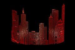 Gloving ‹â€ ‹â€ города абстрактный Стоковая Фотография RF