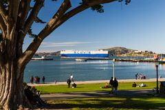 Glovis auto transport ship in San Francisco, California.CR2 stock photography