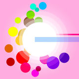 Glow Background Represents Light Burst And Circles. Glow Circles Showing Light Burst And Glaring Royalty Free Stock Photos