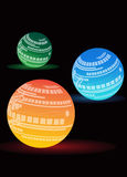 Glow ball. Light background Stock Images