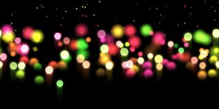 Glow bokeh background. Colorful horizontal hero header with glitter particles. Glow bokeh spray background. Abstract colorful horizontal hero header with glitter Royalty Free Stock Images