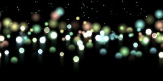 Glow bokeh background. Colorful horizontal hero header with glitter particles. Glow bokeh spray background. Abstract colorful horizontal hero header with glitter Stock Photos