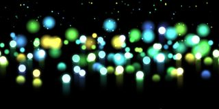 Glow bokeh background. Colorful horizontal hero header with glitter particles. Glow bokeh spray background. Abstract colorful horizontal hero header with glitter Stock Image